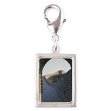 Great Wall of China Silver Portrait Charm