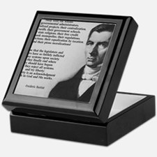 Frederic Bastiat Libertarian Keepsake Box
