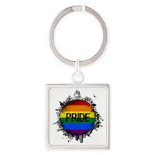 Pride City Square Keychain