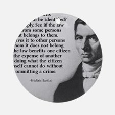 Frederic Bastiat Plunder Round Ornament