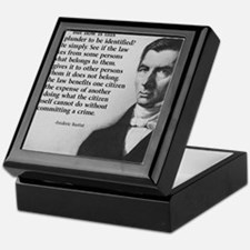 Frederic Bastiat Plunder Keepsake Box