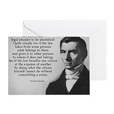 Frederic Bastiat Plunder Greeting Card