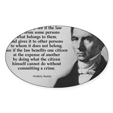 Frederic Bastiat Plunder Decal