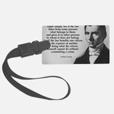 Frederic Bastiat Plunder Luggage Tag