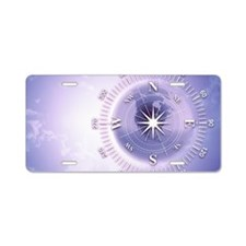 Compass in the sky Aluminum License Plate