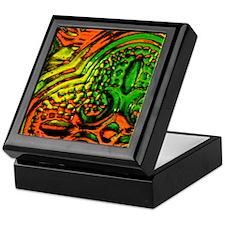 Colored Glass Photo Keepsake Box