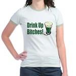 Drink Up Bitches Jr. Ringer T-Shirt