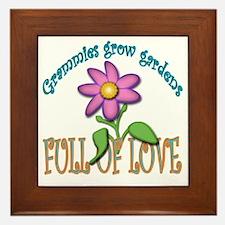 GRAMMIES GROW GARDENS FULL OF LOVE Framed Tile