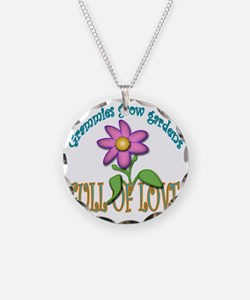 GRAMMIES GROW GARDENS FULL O Necklace Circle Charm