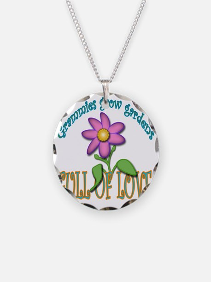GRAMMIES GROW GARDENS FULL O Necklace Circle Charm