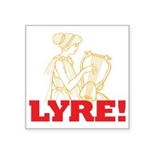 "Lyre Square Sticker 3"" x 3"""