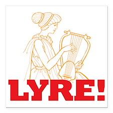 """Lyre Square Car Magnet 3"""" x 3"""""""