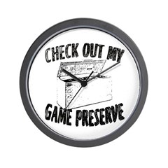 Check out my Game Preserve Wall Clock