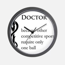 Doctor Because... Wall Clock