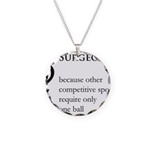 Surgeon Because... Necklace Circle Charm