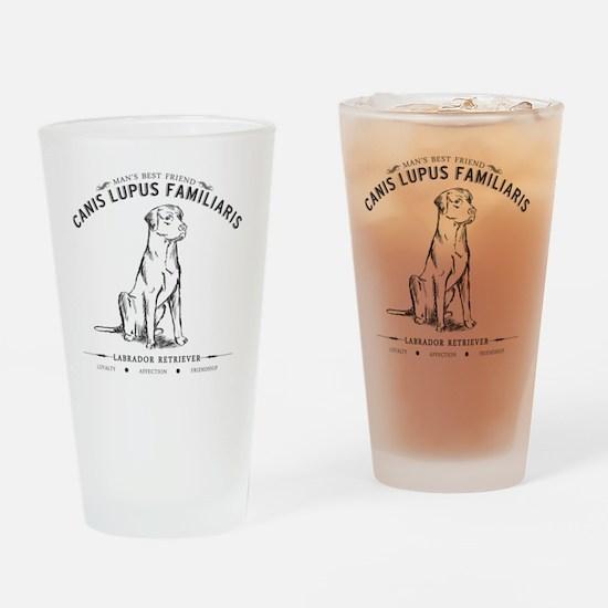 Vintage Labrador Drinking Glass
