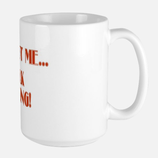 ENOUGH ABOUT ME... LET'S TALK Large Mug