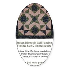 Broken Diamonds back cover Decal
