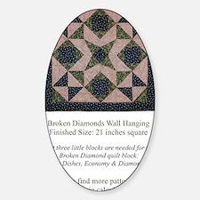 Broken Diamonds back cover Sticker (Oval)