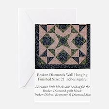 Broken Diamonds back cover Greeting Card