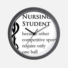 Nursing Student Because... Wall Clock