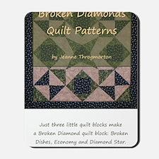 Broken Diamonds front cover Mousepad