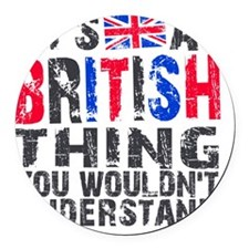 Shower BritThing Round Car Magnet