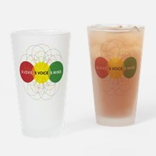 NEW-One-Love-voice-mind9 Drinking Glass