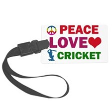 Peace Love Cricket Luggage Tag