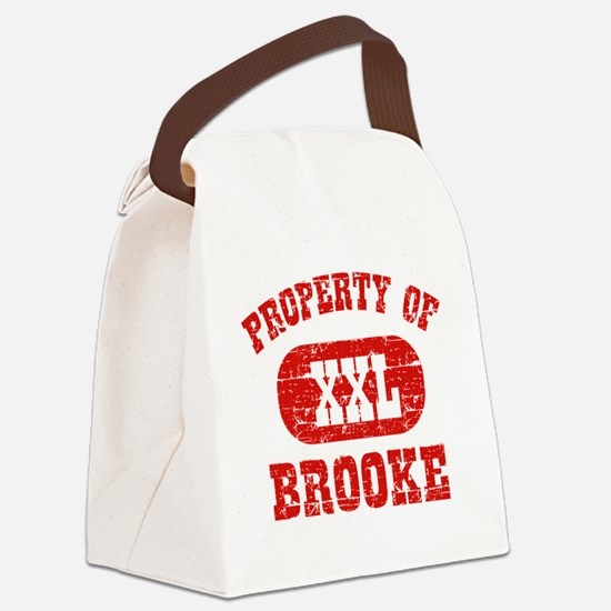 Property of Brooke Canvas Lunch Bag