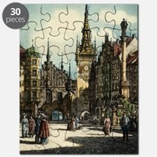 Original 1912 Drawing of Munich Center Puzzle
