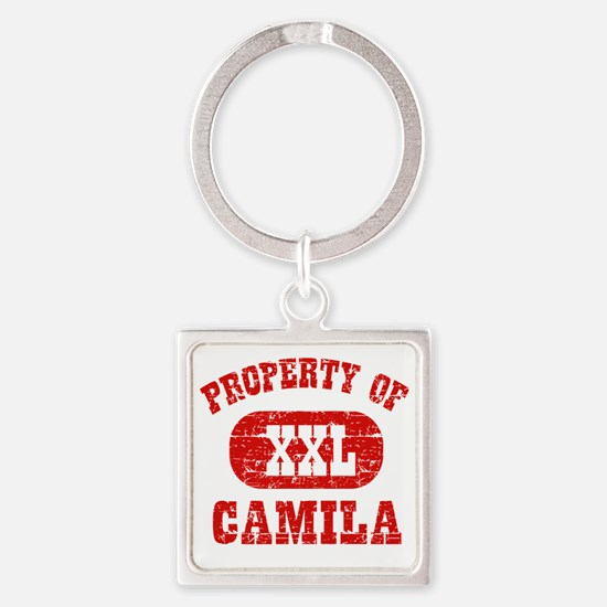 Property of Camila Square Keychain