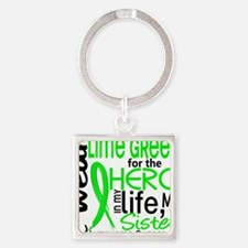 D Sister Square Keychain