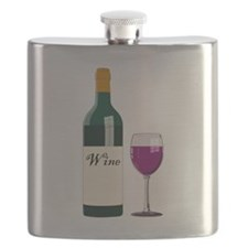 Wine Bottle And Wine Flask