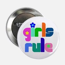 """Girls rule 2.25"""" Button (10 pack)"""