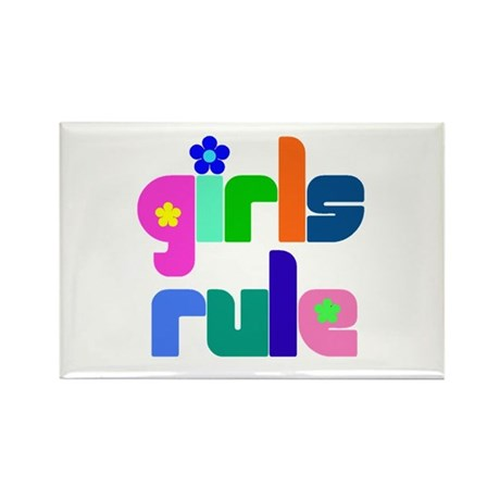 Girls rule Rectangle Magnet