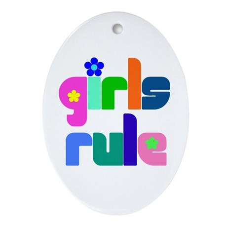 Girls rule Oval Ornament