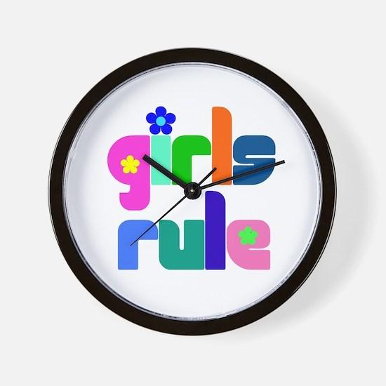 Girls rule Wall Clock