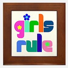 Girls rule Framed Tile
