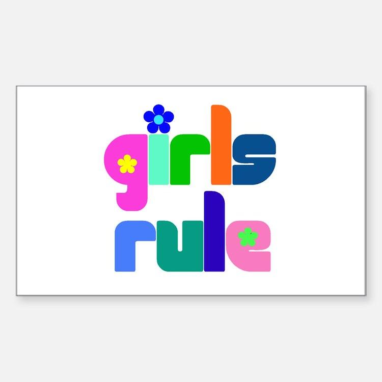 Girls rule Rectangle Decal