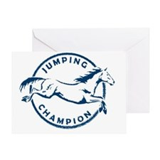 "Jumping Horse ""Jumping Champion"" (Bl Greeting Card"