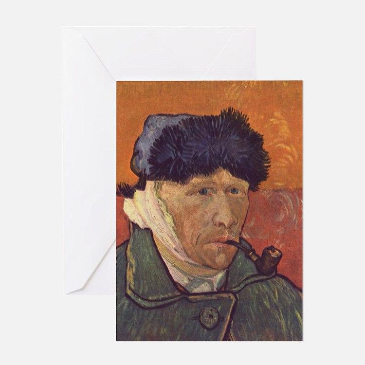 Vincent Van Gogh Self Portrait Greeting Card