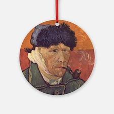 Vincent Van Gogh Self Portrait Round Ornament