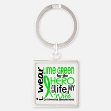 D Wife Square Keychain