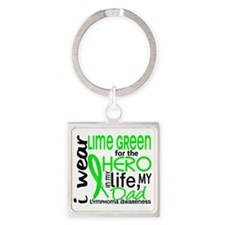 D Hero In Life Dad Lymphoma Square Keychain