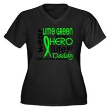 D Hero In Li Women's Plus Size Dark V-Neck T-Shirt
