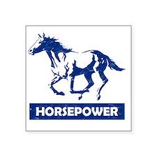 "Running Horse Horsepower (B Square Sticker 3"" x 3"""