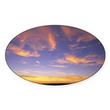 Sunset, cirrus clouds Decal