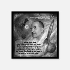 "Heinlein Believe Quote 2 Square Sticker 3"" x 3"""