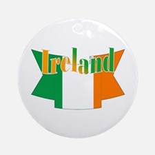 The Ireland Flag Ribbon Ornament (round)